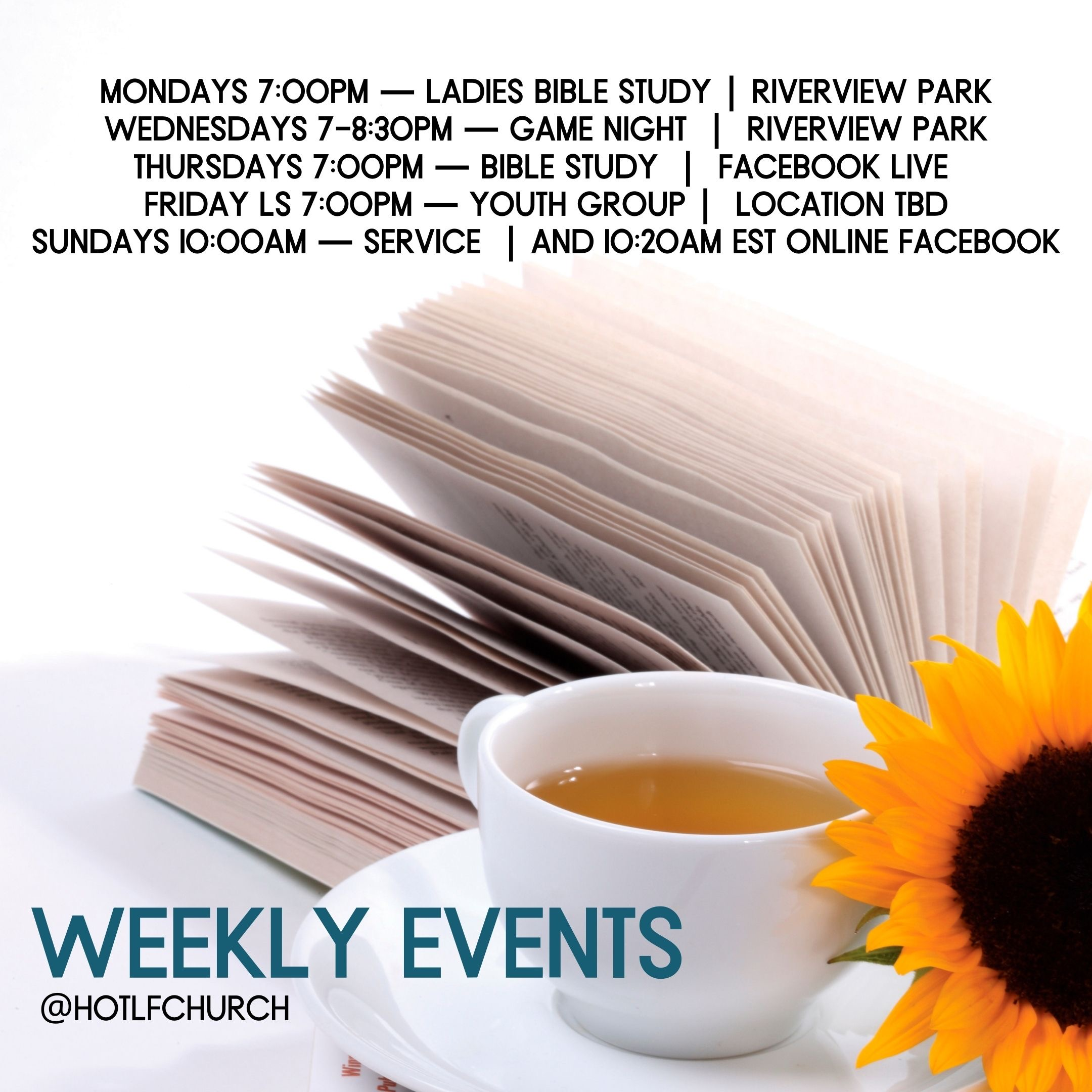 Weekly Events at HOLF