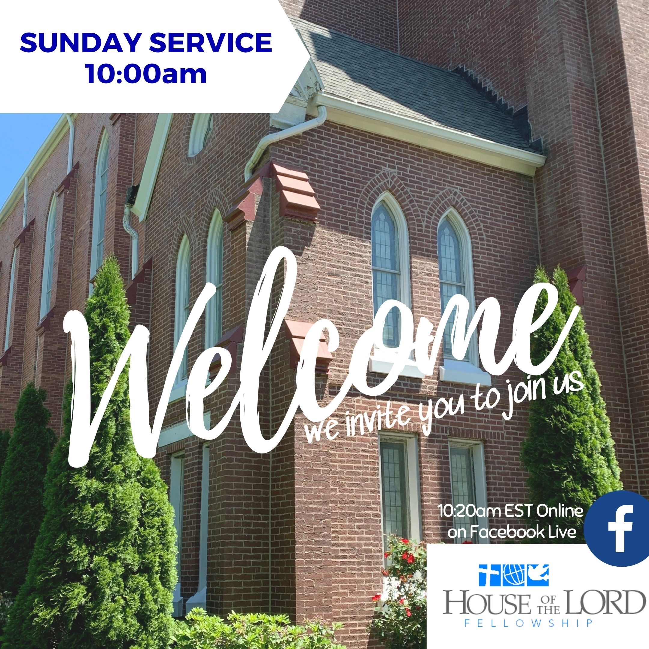 Sunday Services at HOLF